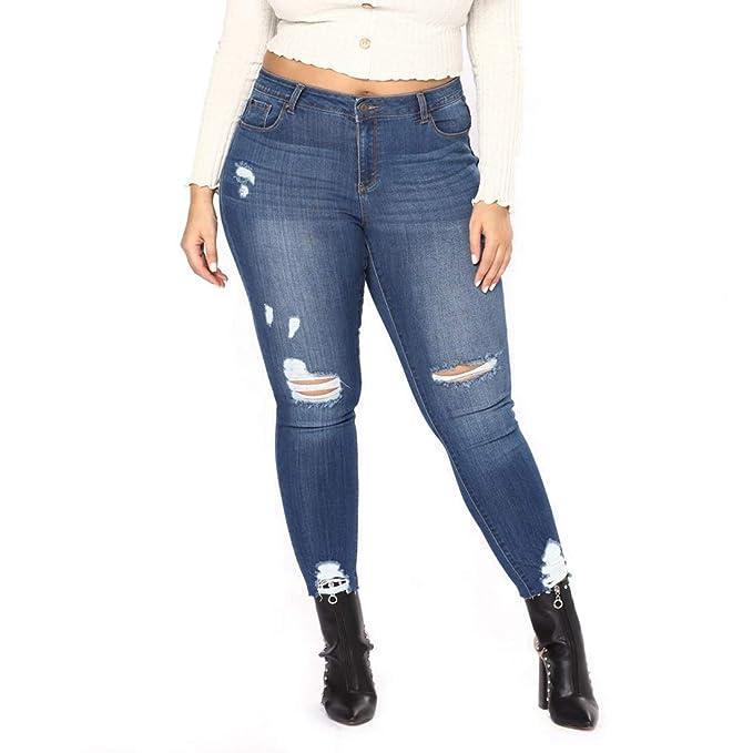 KERVINFENDRIYUN YY3 Jeans elásticos de Las Mujeres Tallas ...