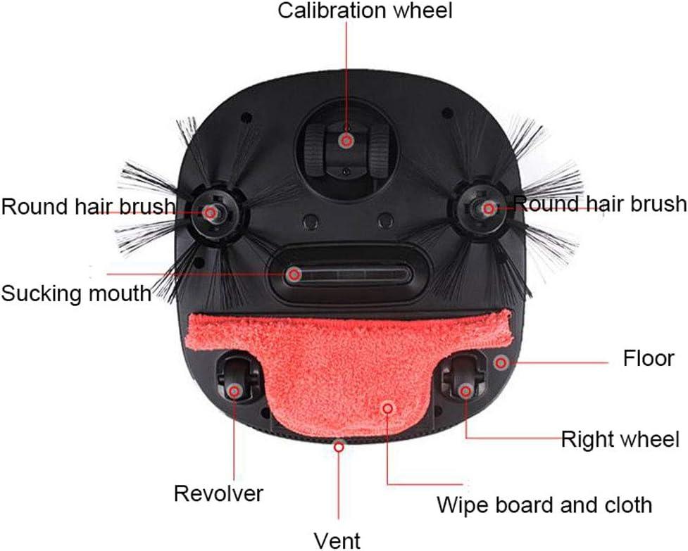LAHappy Aspirateur Robot, Capteur Anti-Chute Intelligent,Système De Nettoyage Puissant,Applicable Aux Appartements, Petites Maisons, Sols Durs Et Tapis À Poils Courts,Rouge Red