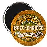 "CafePress - Breckenridge Colorado Magnet - 2.25"" Round Magnet, Refrigerator Magnet, Button Magnet Style"