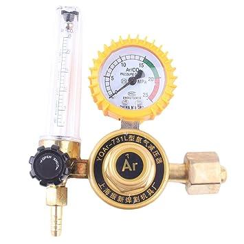 Lorenlli Profesional Argón CO2 Gas Mig Tig Medidor de flujo Control Soldadura Soldadura Regulador Mig Tig Herramienta Gauge Para Soldador: Amazon.es: Hogar