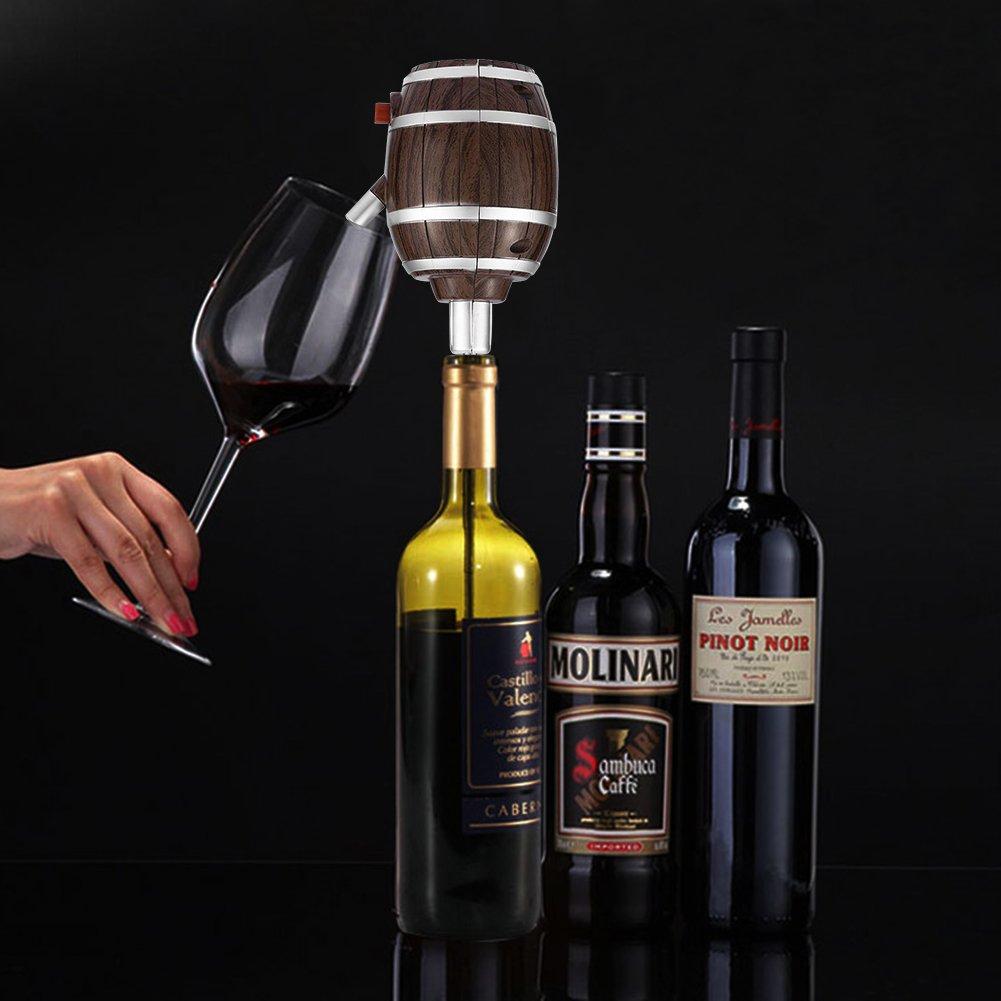 Eléctrico Dispensador Rojo Aireador De Vino decantador bombas funciona con pilas champán espíritu difusor sellador de vino vertedor de botella de cerveza ...