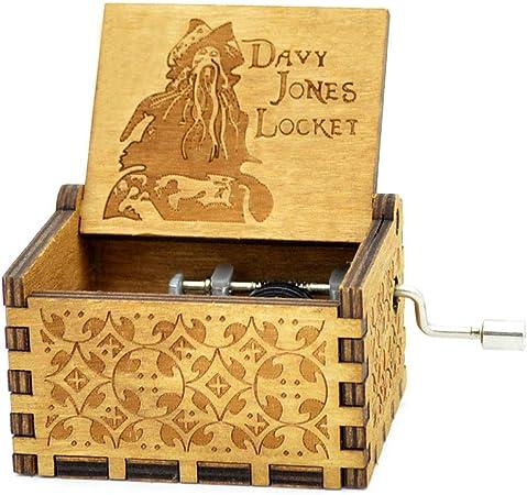 Caja de música Y&S de Star Wars en madera grabada con manivela ...