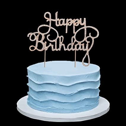 Image Unavailable Not Available For Color Happy Birthday Rhinestone Cake