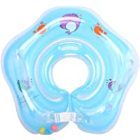E-db Salvagente Collo Neonato - Gonfiabile Regolabile Doppio Airbag Salvagente Neonate per 1-18 Mesi Baby