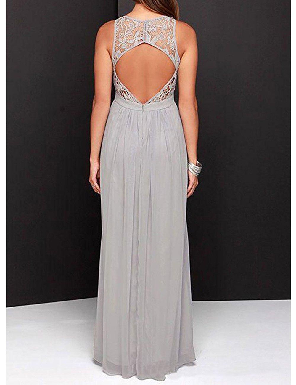 Amazon.com: Beautydress Vintage Long Chiffon Lace Bridesmaid Dress Women BP105: Clothing