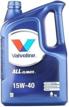 Valvoline Motoröl Motorenöl Motor Motoren Öl Motor Engine Oil Benzin Diesel Flüssiggas All Climate 15w 40 5l Auto