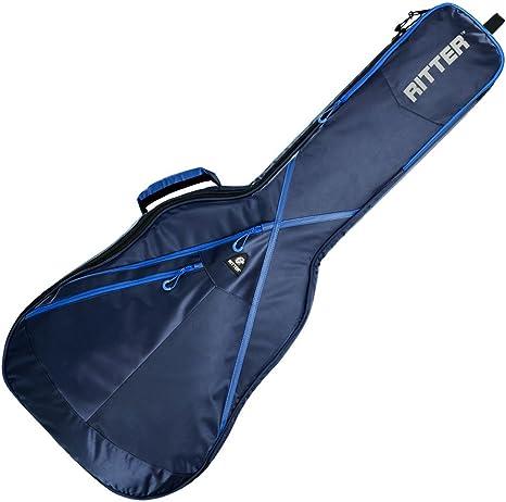 Ritter RGP8-C CLAS - Funda/estuche para guitarra acustica-clasica, logo reflectante, color azul: Amazon.es: Instrumentos musicales