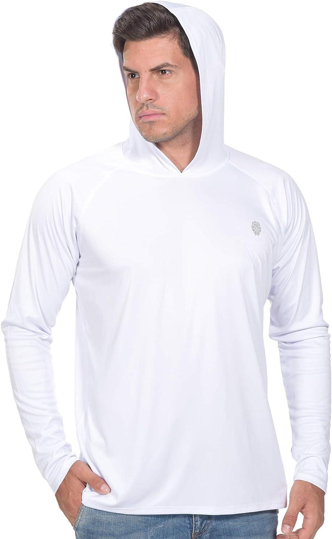 Fishing Shirts for Men Long Sleeve - Sun Protection SPF 50+ UV Tshirt Hoodies