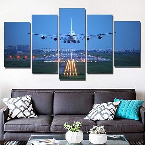 Fairchild C-123 Provider Plane 5 panel canvas Wall Art Home Decor Poster Print