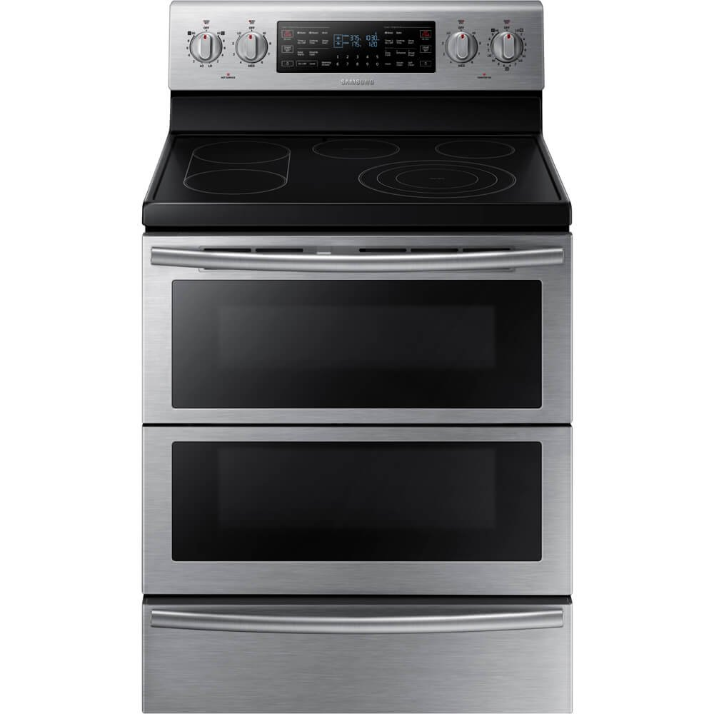 Samsung NE59J7850WS 30 Self-Cleaning Freestanding Electric Double Range