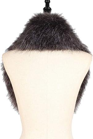 Unisex De Mujeres Clásico Caliente Paquete Cálido Bufanda De Cuello Artificial Piel Y Pelo De Zorro Suave Moda Nueva Estilo