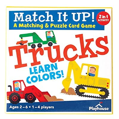Playhouse Match it UP! Trucks Color Matching & Puzzle Card Game for Kids: Toys & Games
