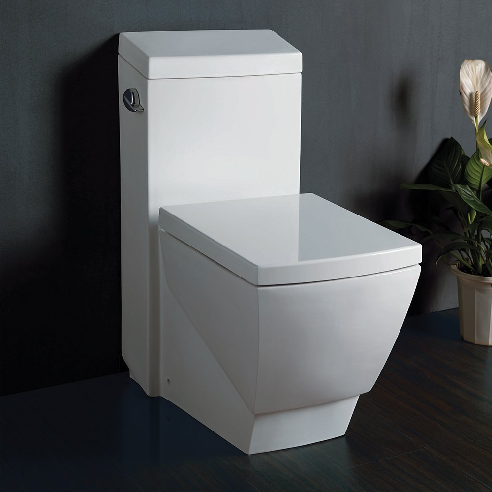 fresca bath ftl apus  piece square toilet with soft close  - fresca bath ftl apus  piece square toilet with soft close seat  onepiece toilets  amazoncom