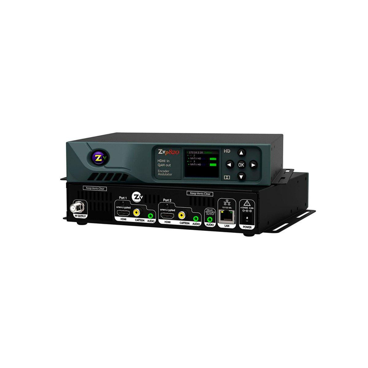 ZeeVee ZvPro 820 Dual Channel Unecrypted HDMI Encoder//QAM Modulator