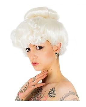 Horror-Shop Peluca vieja dama blanca