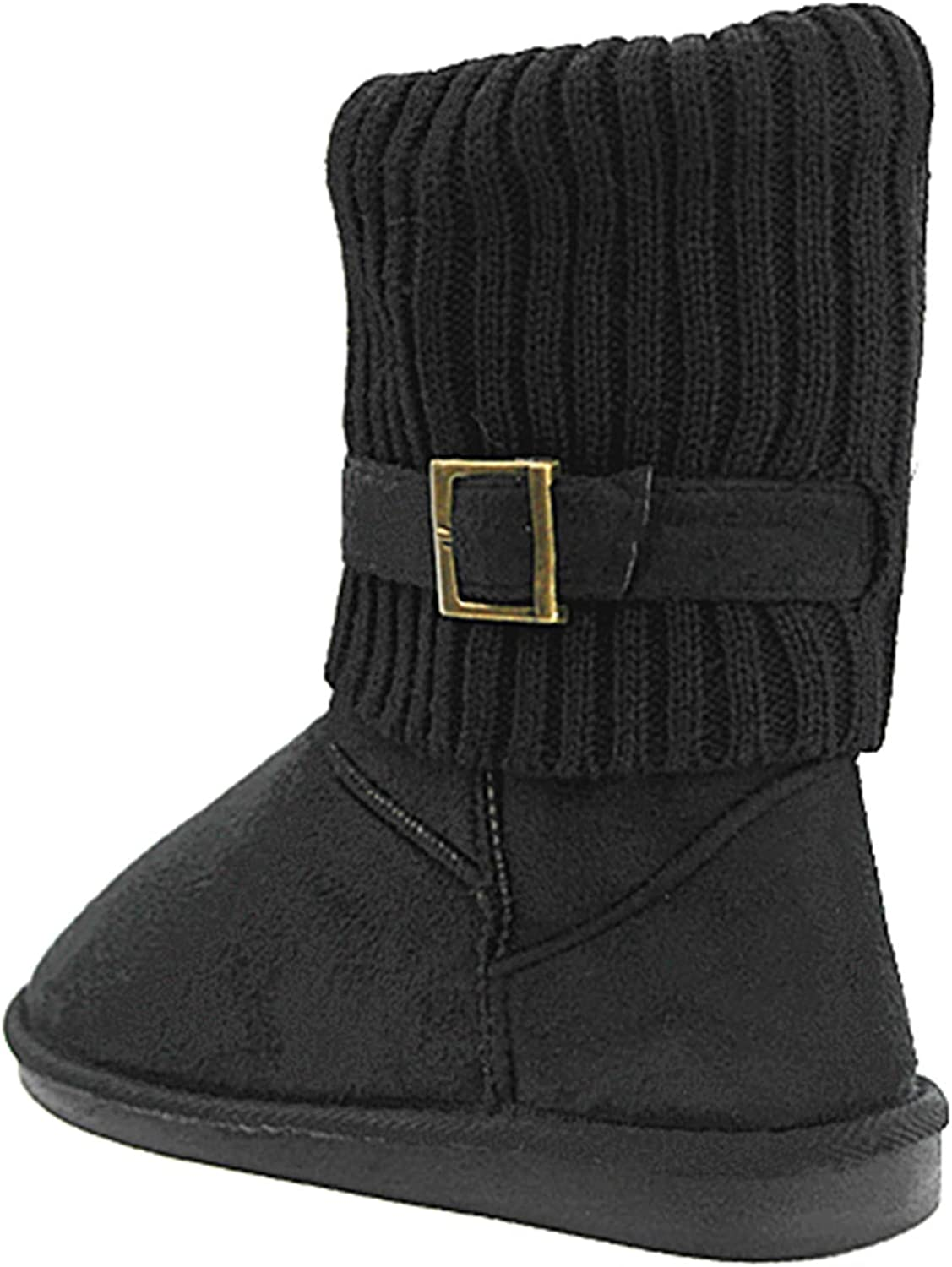 Womens Fur Mid-Calf 4 Buttons Faux Soft Snow Winter Flat Boot Shoes New 02