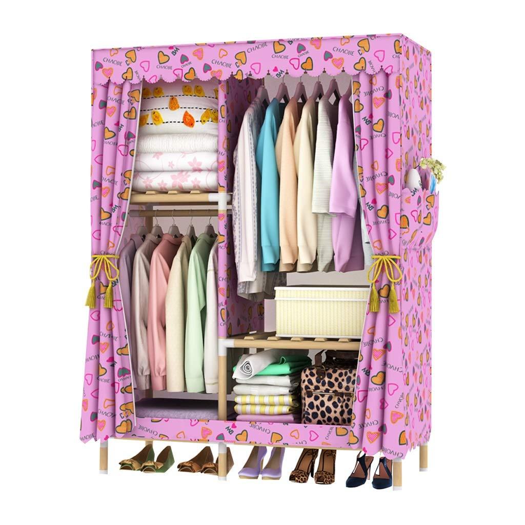 Hai Yan Boutique Cloth Wardrobe Cloth Wardrobe Simple Wardrobe Single Cloth Wardrobe Wood Assembly Dormitory Clothes Cabinet Storage (Color : E) by Hai Yan