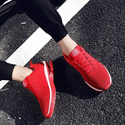 Zapatos Aire Con Running Para 41 Rojo 5066 Estudiante Gimnasia Tejidos Mujer Deportivas De Cojines Calzado Deporte Logobeing Zapatillas Sneakers 35 Volar Net qX0Fz7