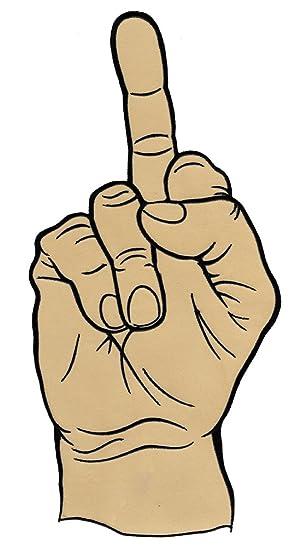 Middle finger large. Amazon com patch iron