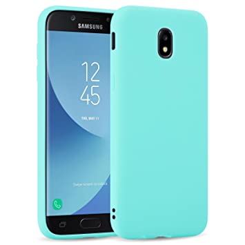 Funda Galaxy J5 2017, JAMMYLIZARD Carcasa TPU Ultra Fina Goma De Silicone [ Jelly Case ] Back Cover Case Para Samsung Galaxy J5 2017, TURQUESA