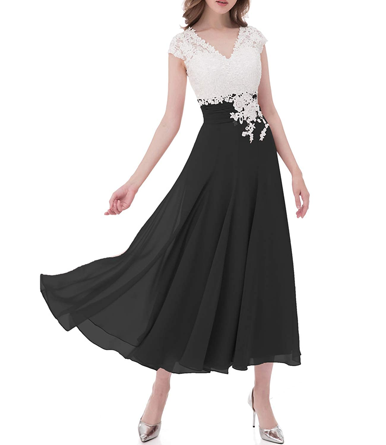 fd25e3b8116726 Newdeve Chiffon Mother Of The Bride Dresses Long Pleated With Rhinestones  Short Sleeve