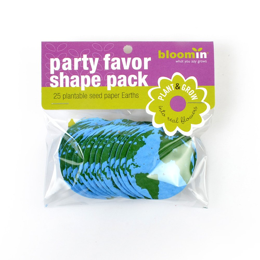 Bloomin Seed Paper Shapes Packs 25 Shapes Per Pack 2.1 {Blue Green} Earth Shapes