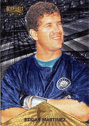 - Edgar Martinez baseball card 1996 Pinnacle #26 Starburst Foil Edition (Seattle Mariners)