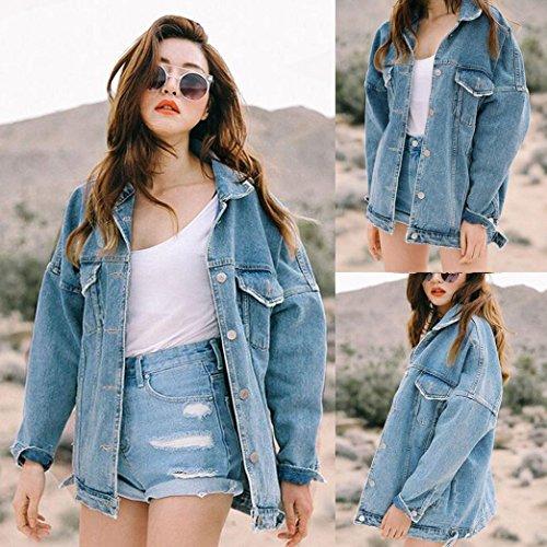 vrac Femmes Jeans Denim Femmes Retro shirt Casual KEERADS Veste en T Outwear Manteau Oversize Boyfriend 7gP8npxn