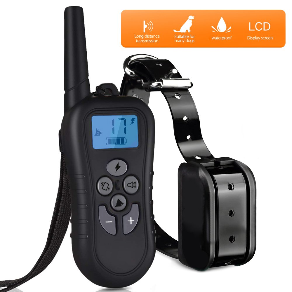 Nebite Dog Training Collar Upgraded Version Rechargeable 550 yards Waterproof Electronic Remote Training Collar with Beep,100 Levels of Humane Vibration and Shock