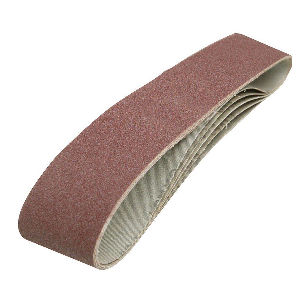 Silverline 186813 Sanding Belts, 100 x 915 mm, 80 Grit - Pack of 5 SLTL4