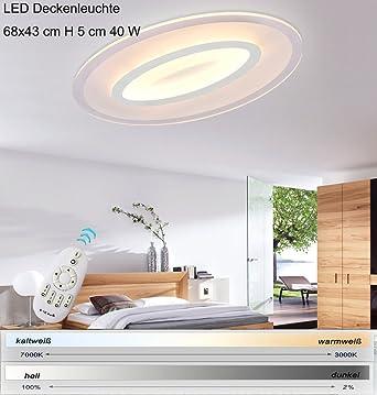 LED Deckenleuchte 1604-680. Mit Fernbedienung ist die Lichtfarbe ...