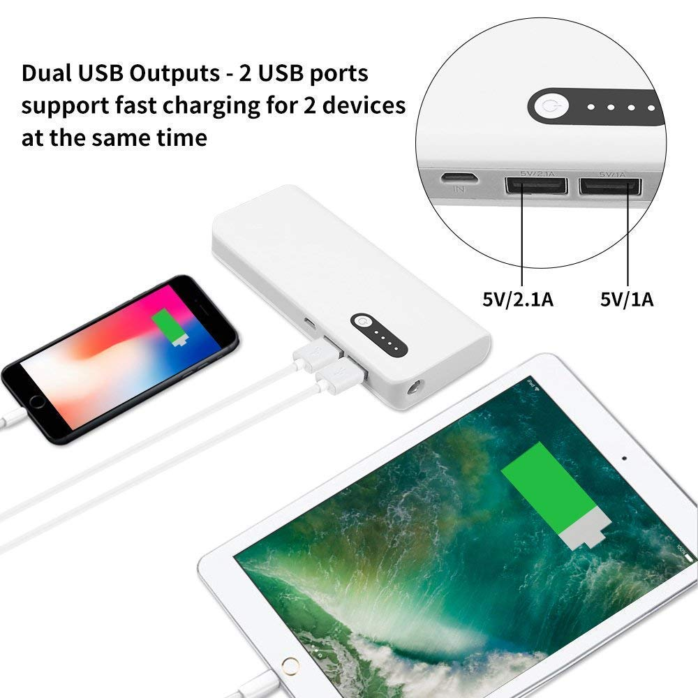 Amazon.com: Skyvast 16800mAh Portable Charger External Battery Power Bank for Smart Phones and Tablets (16800mAh White): Electronics