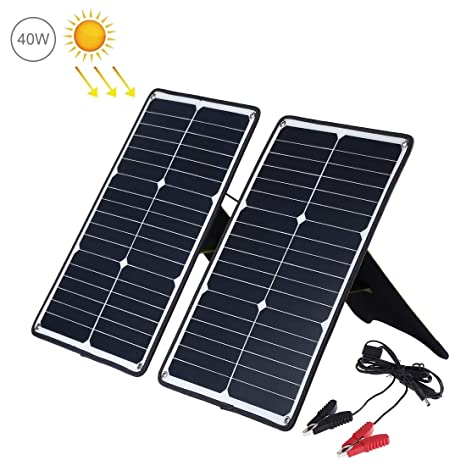 Amazon.com: LUOFUSHENG Cargador solar portátil, 2 unidades ...
