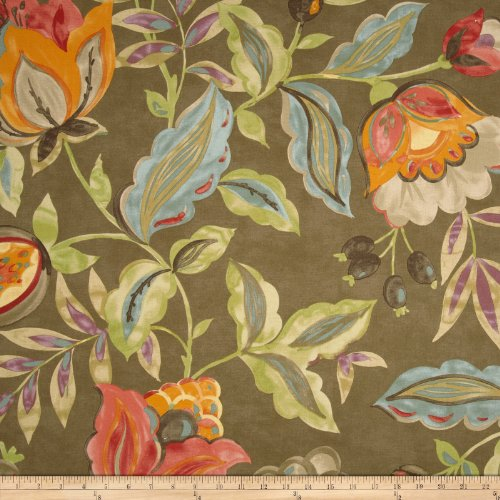 WAVERLY Modern PoeticTwill Flaxseed Fabric by The Yard
