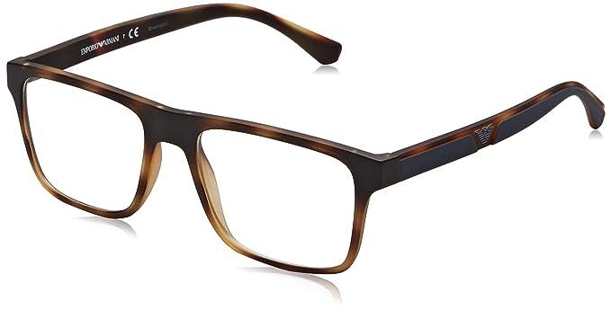Emporio Armani 0EA4115 Gafas de sol, Matte Havana, 54 para Hombre