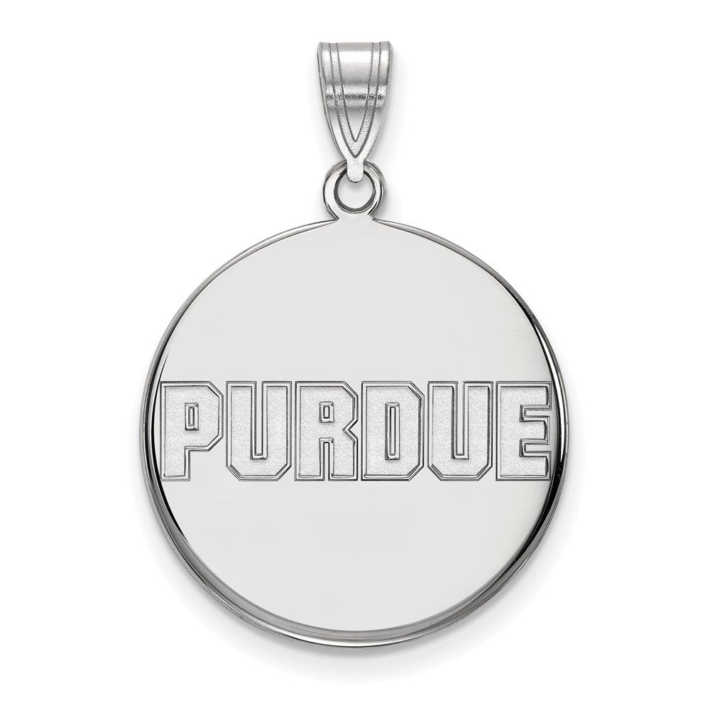 Jewel Tie 925 Sterling Silver Purdue Large Disc Pendant