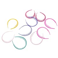 Dovewill 10pcs Women Girl Candy Color Plastic Teeth Headband Hairband Hair Hoop Girl Accessoy