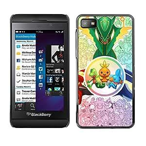 // PHONE CASE GIFT // Duro Estuche protector PC Cáscara Plástico Carcasa Funda Hard Protective Case for Blackberry Z10 / Criaturas lindas /
