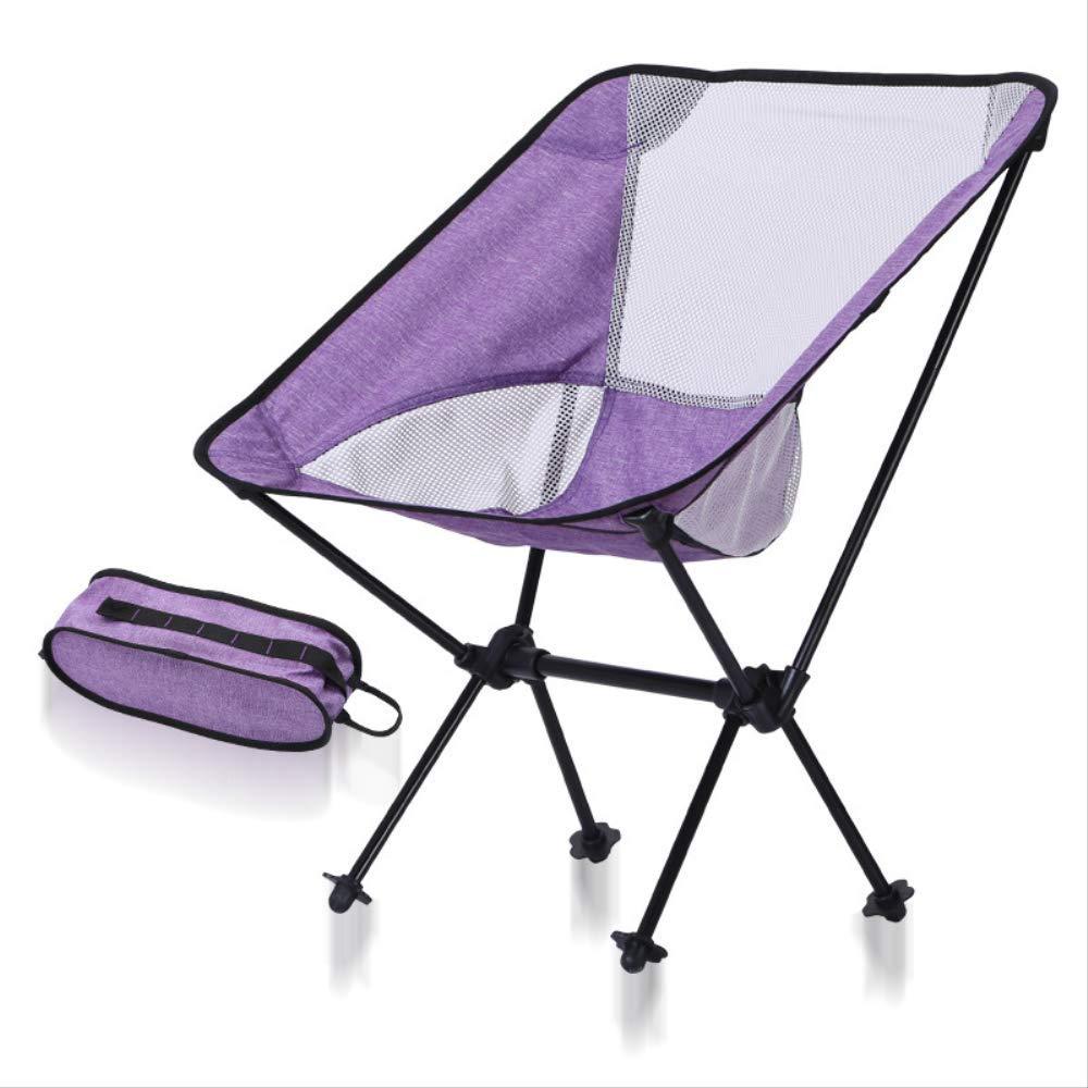 SF75600CS2  HRYSSYX Chaise Pliante Chaise de pêche Lune Pourpre Camping Stable Pliant Ultra léger Chaise de mobilier extérieur