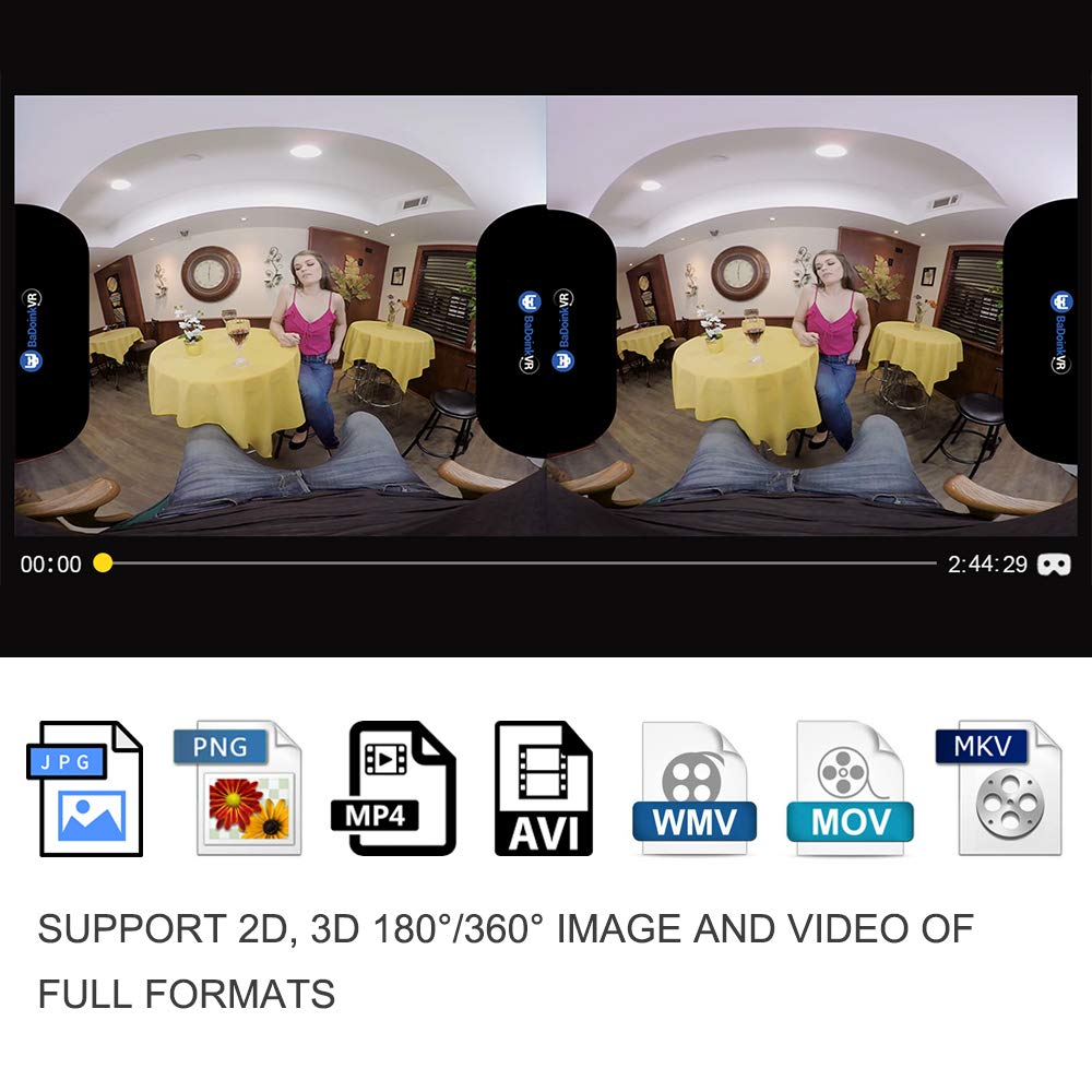 PVR Iris Standalone Virtual Reality Headset All-In-One VR Goggles for 2D 3D  Movies-YouTube Netflix Apps and MicroSD Card Supported