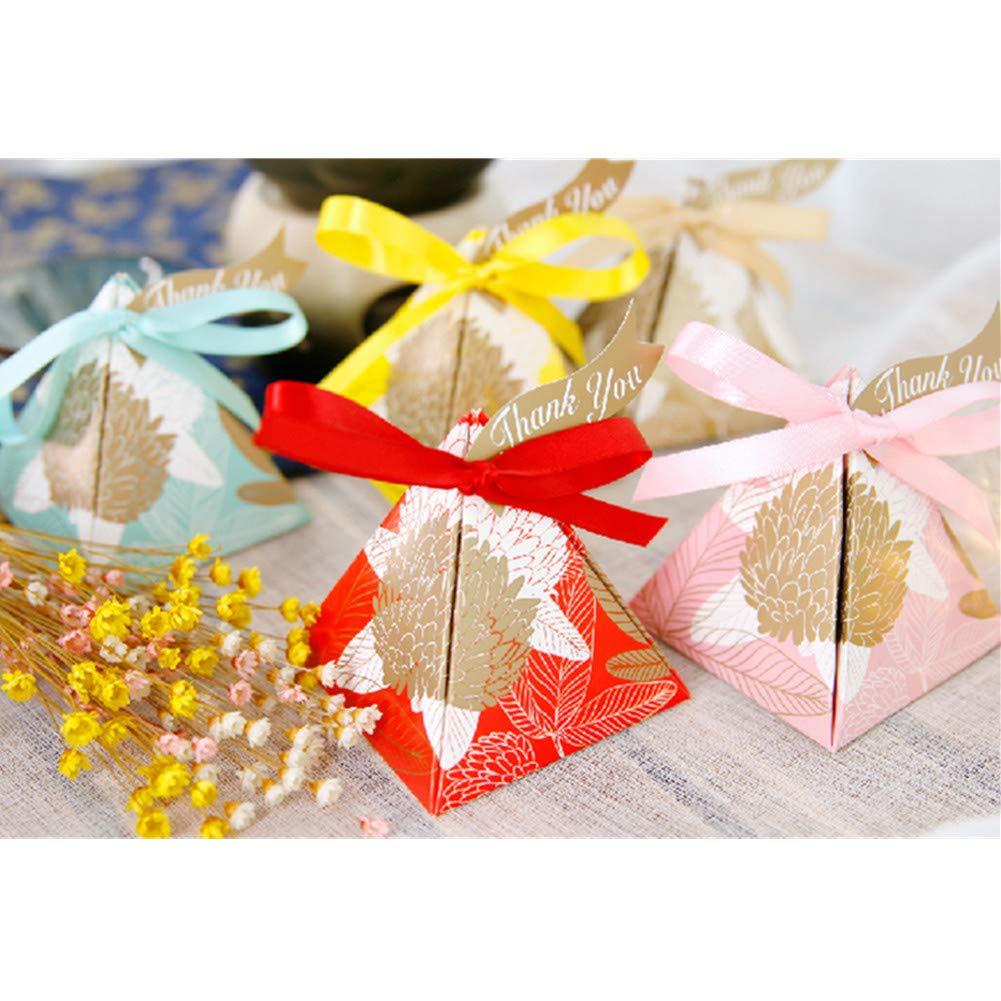 Amazon.com: 100 cajas de regalo para regalos de boda, diseño ...