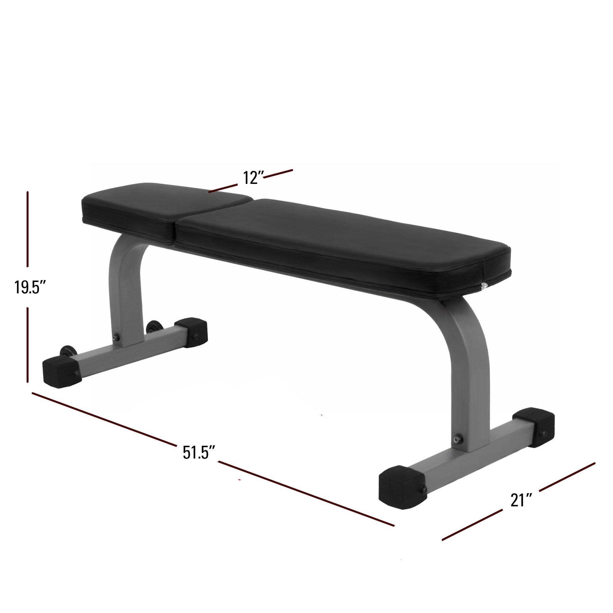 XMark Flat Weight Bench XM-7602 by XMark Fitness (Image #2)