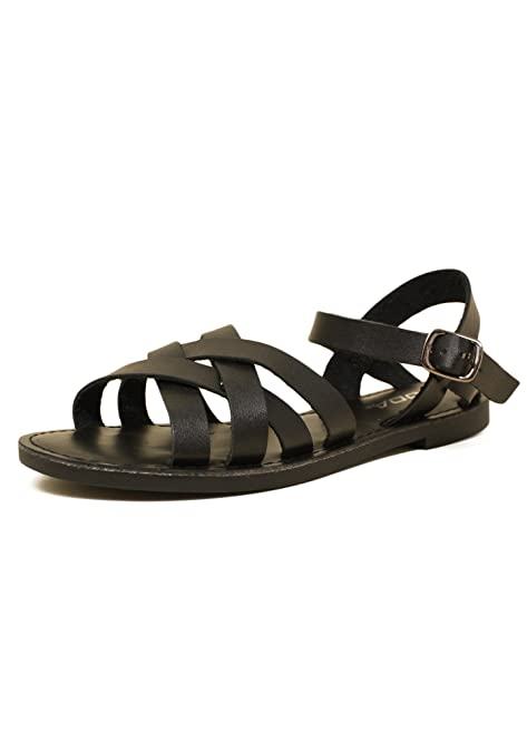 09addace3051f7 SODA Pure-S Women s Faux Leather Woven Sandals (5.5