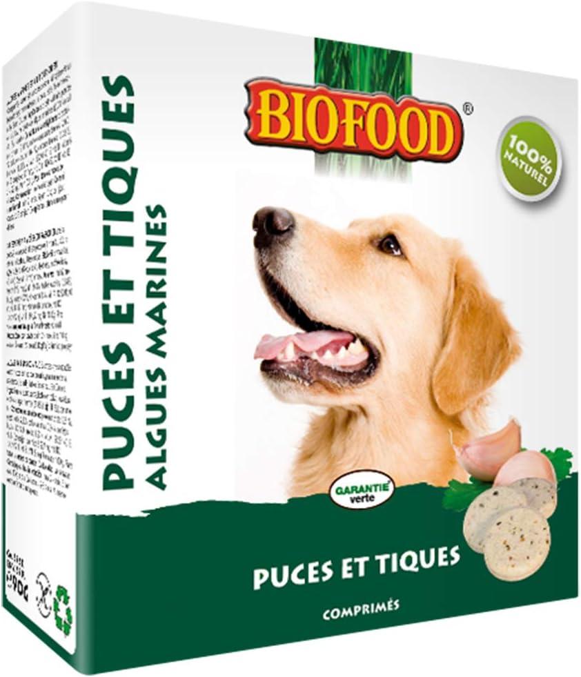 BIOFOOD - Lote de 55 Pastillas antipulgas para Perro/Gato