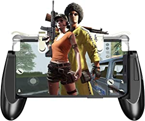 "GameSir F2 Mobile Game Controller, L1R1 Mobile Game Trigger Joystick for 4.5-6.4"" Phone, Mobile Controller Grip Case for PUBG/Knives Out/Rules of Survival"
