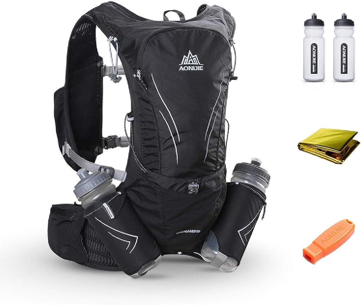 b5e68857a2cc TRIWONDER 15L ハイドレーションバッグ トレイルラン リュック ランニング ベスト マラソン ジョギング用 ザック 給水ボトル付き