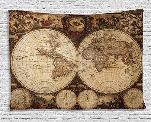 Wanderlust Tapestry Ambesonne Nostalgic Historical