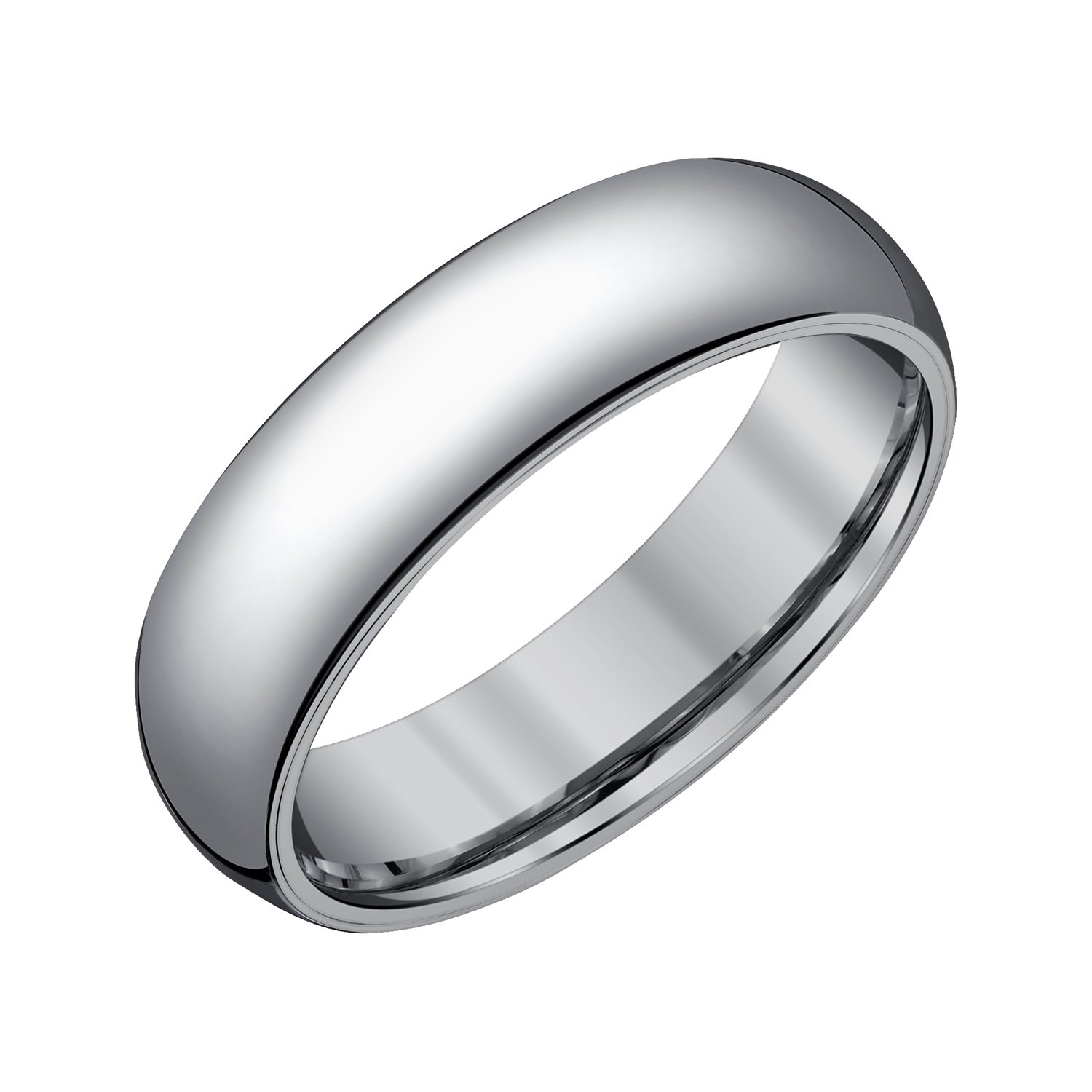 Men 6mm Half Round Tungsten Band,8