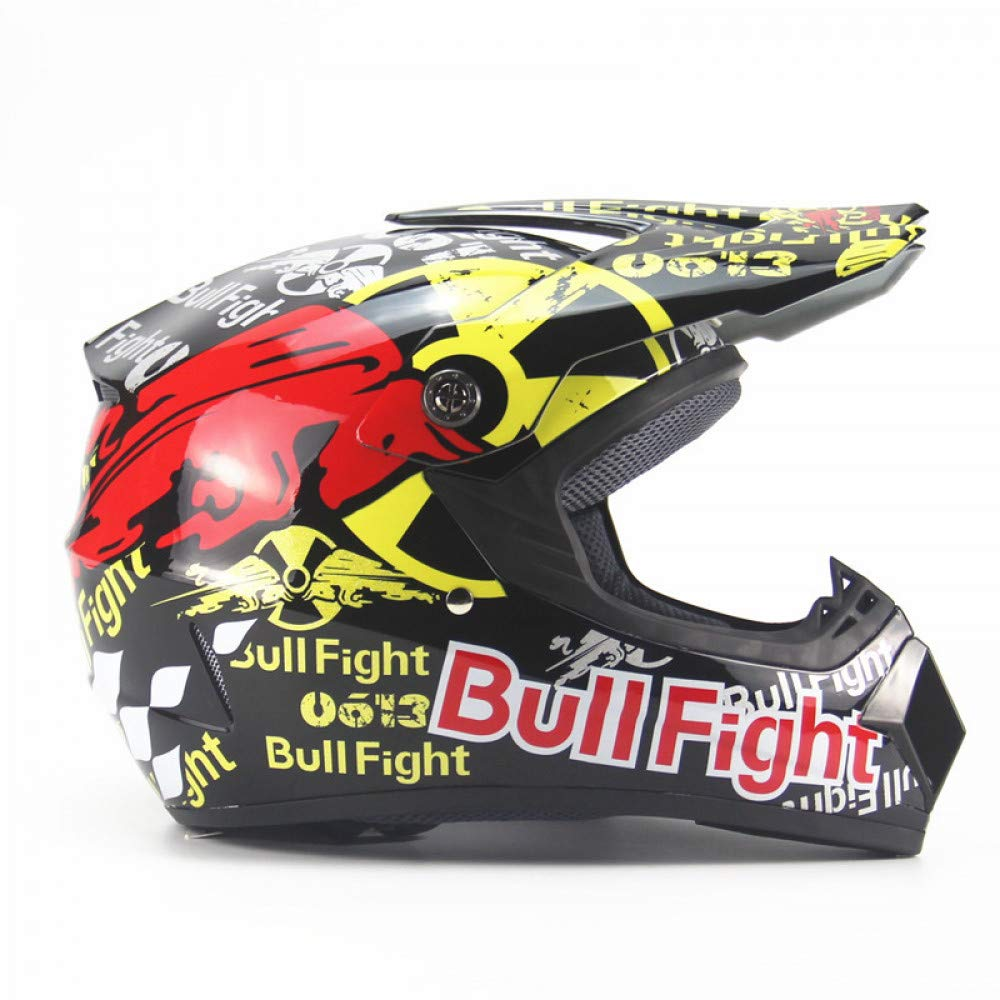 ... Seasons Motocross Motocross Casco Casco del Coche De La Batería De Los Hombres Casco Completo De Bicicleta De Montaña Dh Velocidad Caída Red Bull Fight: ...