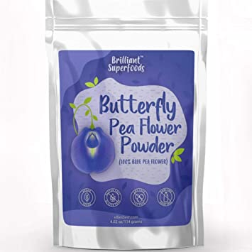 Butterfly Pea Flower Powder - Blue Matcha Tea - 4.02 oz - 100% Natural Food  Coloring - Teas, Smoothie...